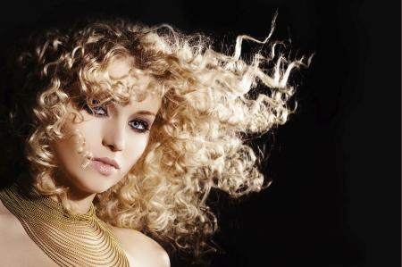 Tight Golden Curls with Extra volume