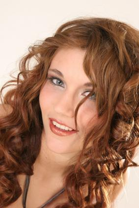 Long Layered Curly Auburn Hair