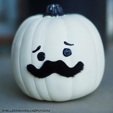 Mustache-man pumpkin