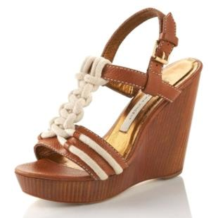 Cynthia Vincent Knotted Rope Wedge Sandals