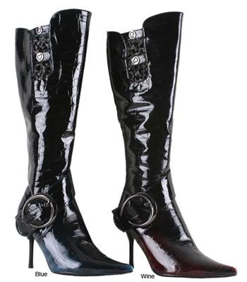 Da Viccino by Beston Crocodile Print Boots