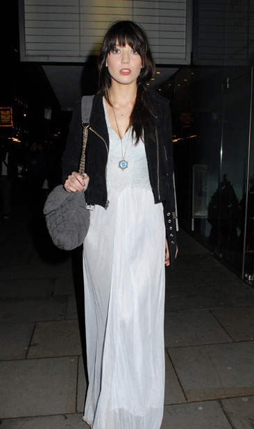 Daisy Lowe at the English Ballet Christmas Party in London