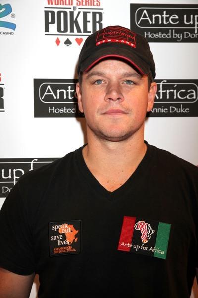 Matt Damon Antes Up for Africa