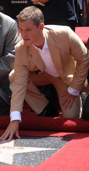 Matt Damon becomes Hollywood official