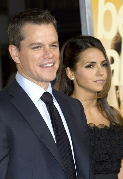 Matt Damon premieres 'The Informant'