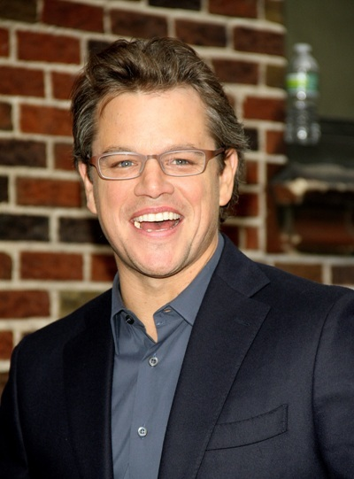 Matt Damon arrives at 'Late Show'