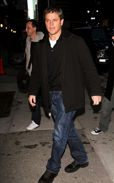 Matt Damon at the Ed Sullivan Theatre