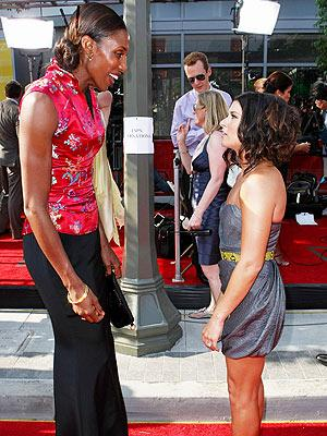 Danica Patrick and Lisa Leslie