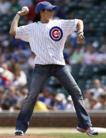 Danica Patrick at Chicago Cubs Game