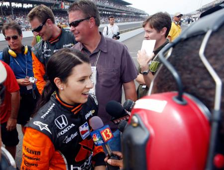 Danica Patrick at the Indianapolis 500