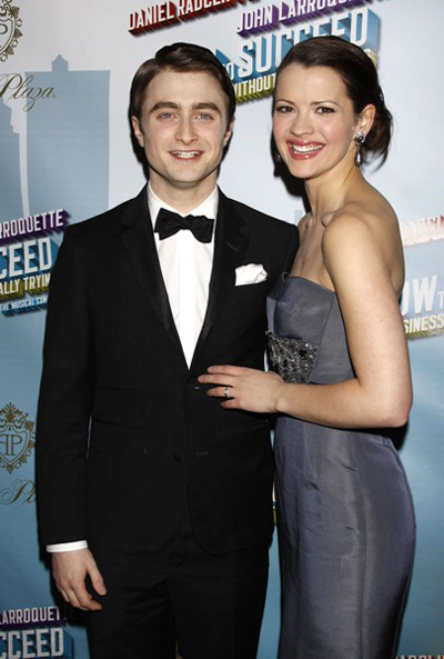 Daniel Radcliffe and Rose Hemingway How to Succeed in Buisness Without Really Trying afterparty