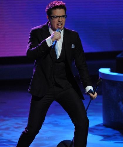 Danny Gokey performing on American Idol