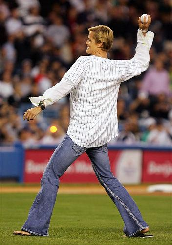 Dara Torres Throws Out the First Pitch