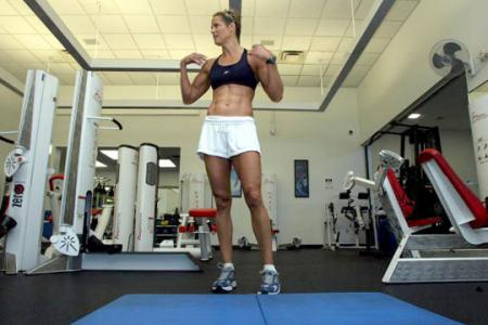 Dara Torres Working Out