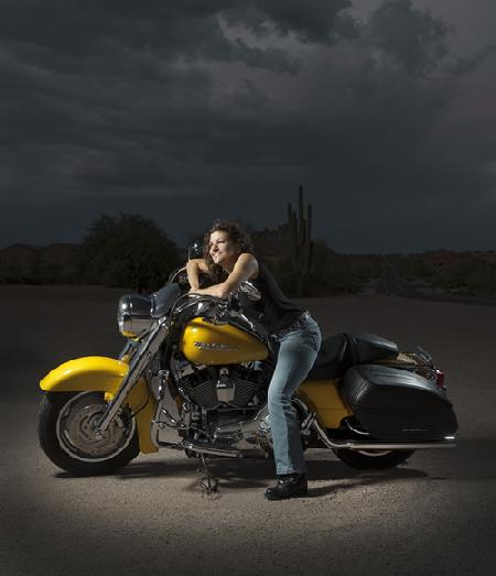 Darnell and Harley-Davidson in the Desert