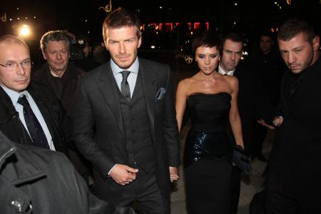 David Beckham and his wife Victoria Beckham