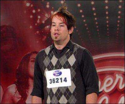 Kansas City native David Cook's audition mugshot