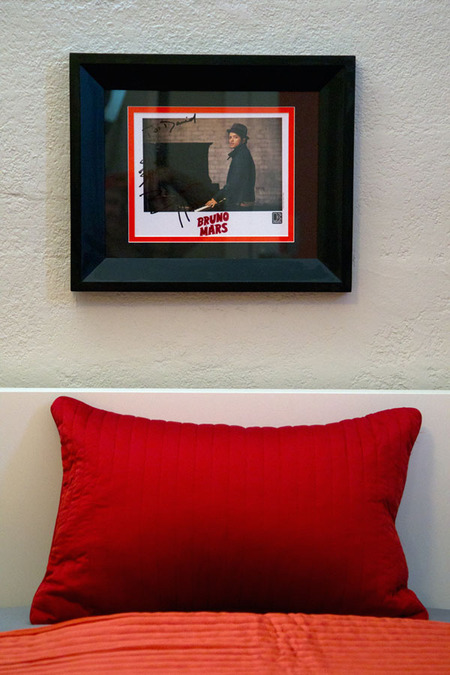 David's Room - Signed Bruno Mars Photo