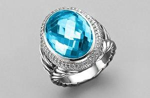 David Yurman Blue Topaz Ring