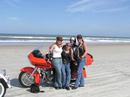 On the beach at Daytona Bike Week