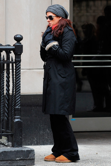 Debra Messing on the set of &amp;quot;Smash&amp;quot; in NYC