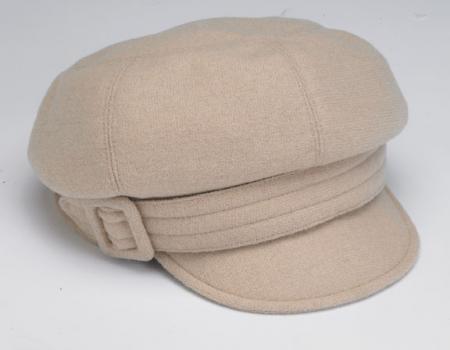 Devon newspaper-style wool cap