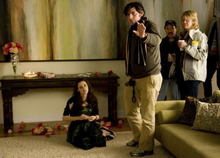 Behind the scenes during filming Bella's birthday party at the Cullen's