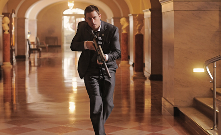 Channing Tatum in a suit in White House Down