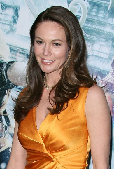 Diane Lane's long, hairstyle