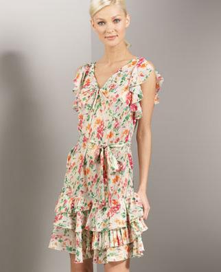 Diane von Furstenberg Pleated Chiffon Dress