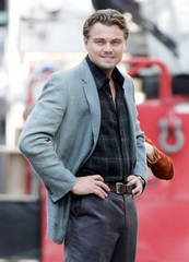 "Leonardo DiCaprio on ""Inception"" set"
