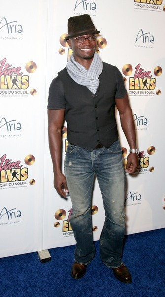 Taye Diggs walks the blue carpet