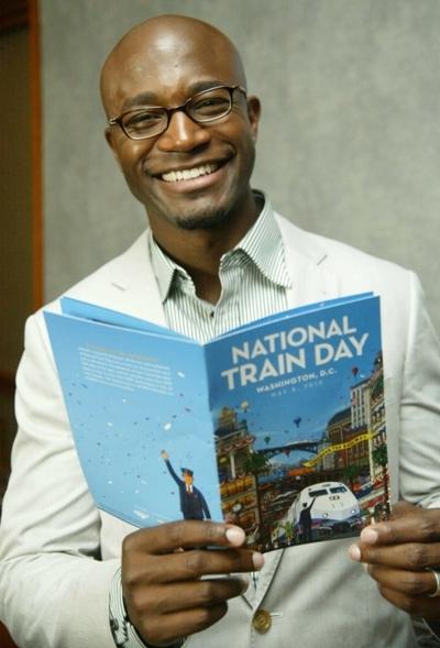Taye Diggs at National Train Day