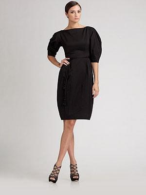 Dior Belted Balloon Skirt Dress