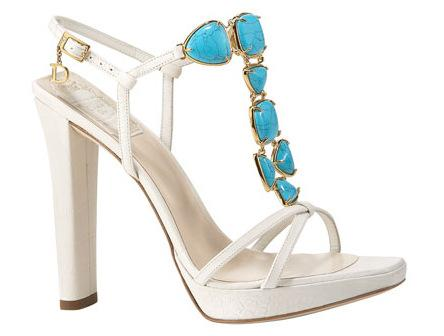 Dior Jeweled T-Strap Sandals
