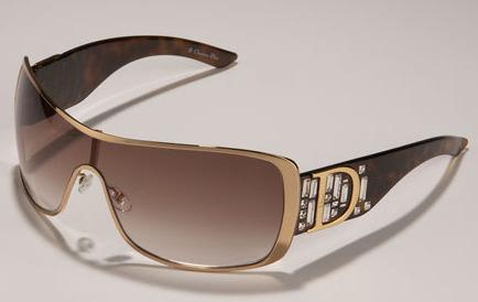 Dior Rhinestone Shield Sunglasses