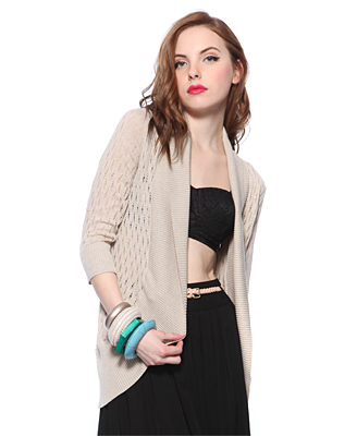 Forever 21 Distressed Knit Cardigan