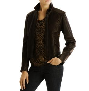 Kenneth Cole Distressed Leather Jacket