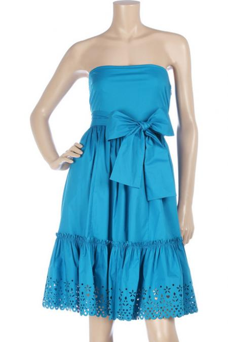 DKNY Strapless Blue Sundress