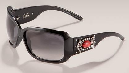 Dolce & Gabbana Stone Detail Sunglasses