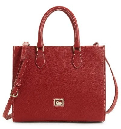 Leather boxy bag