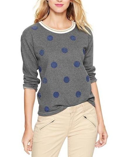 Polka dot pullover