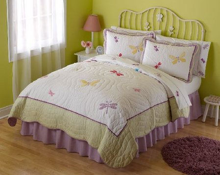 Dragonfly Butterfly Quilt Set - Girls' bedroom ideas