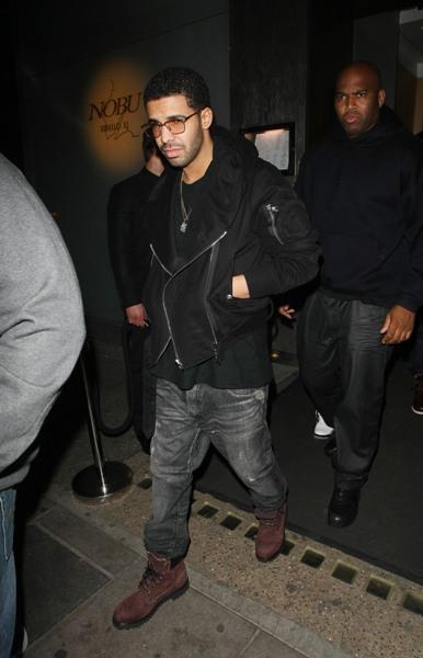 Drake at Nobu Berkeley in London, England