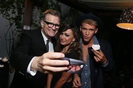 Drew Carey, Karina Smirnoff & Cody Simpson
