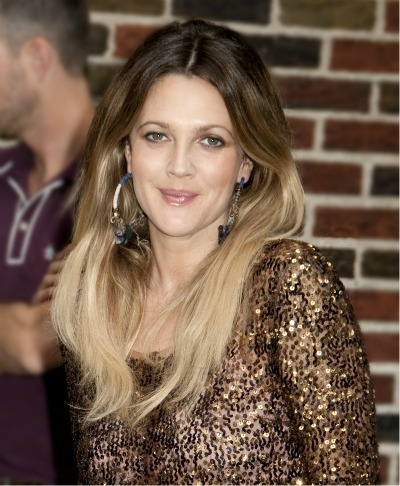 Drew Barrymore's voluminous style