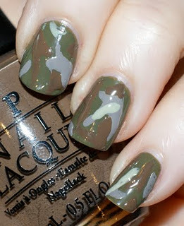 Camo Nails