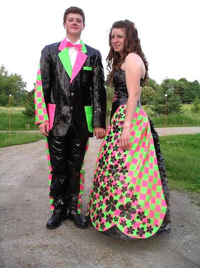 One final duct tape prom dress
