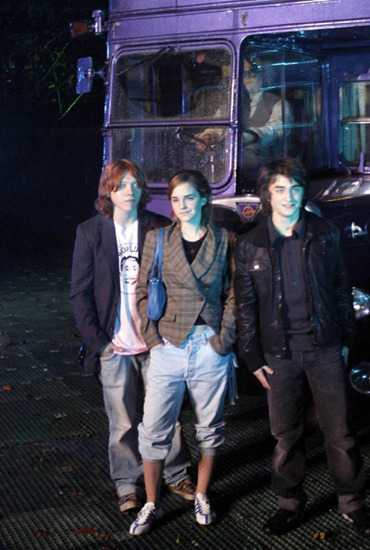 Rupert Grint, Emma Watson and Daniel Radcliffe at the Harry Potter and the Prisoner of Azkaban DVD launch