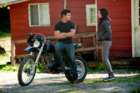 Taylor Lautner (Jacob) and Kristin Stewart (Bella)